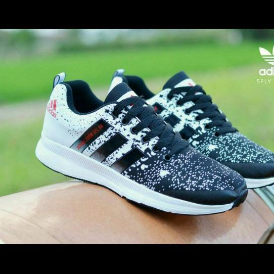 Beli Sepatu Sneakers Olahraga Sport Pria Wanita Adizero Climalite Sepatu Running Black Online Murah