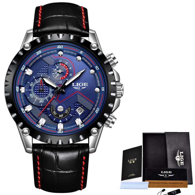... Stainless Steel - Guess W0377G4. Source · Detail Gambar LIGE Perhiasan Pria Mode Sport Quartz Jam Mens Watches Top Brand Luxury Bisnis Kulit