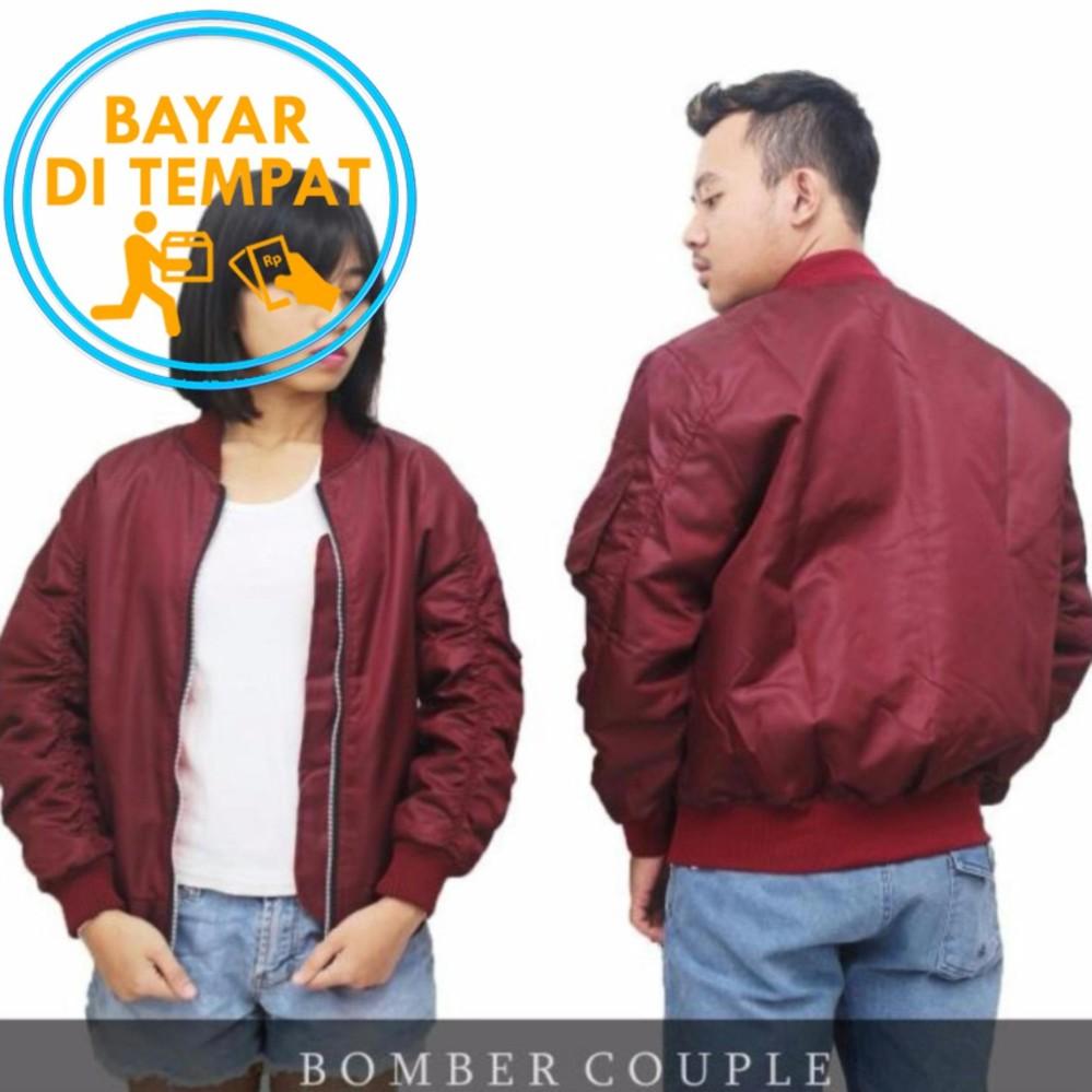 Review Jaket Murah Bomber Couple Maroon Di Indonesia