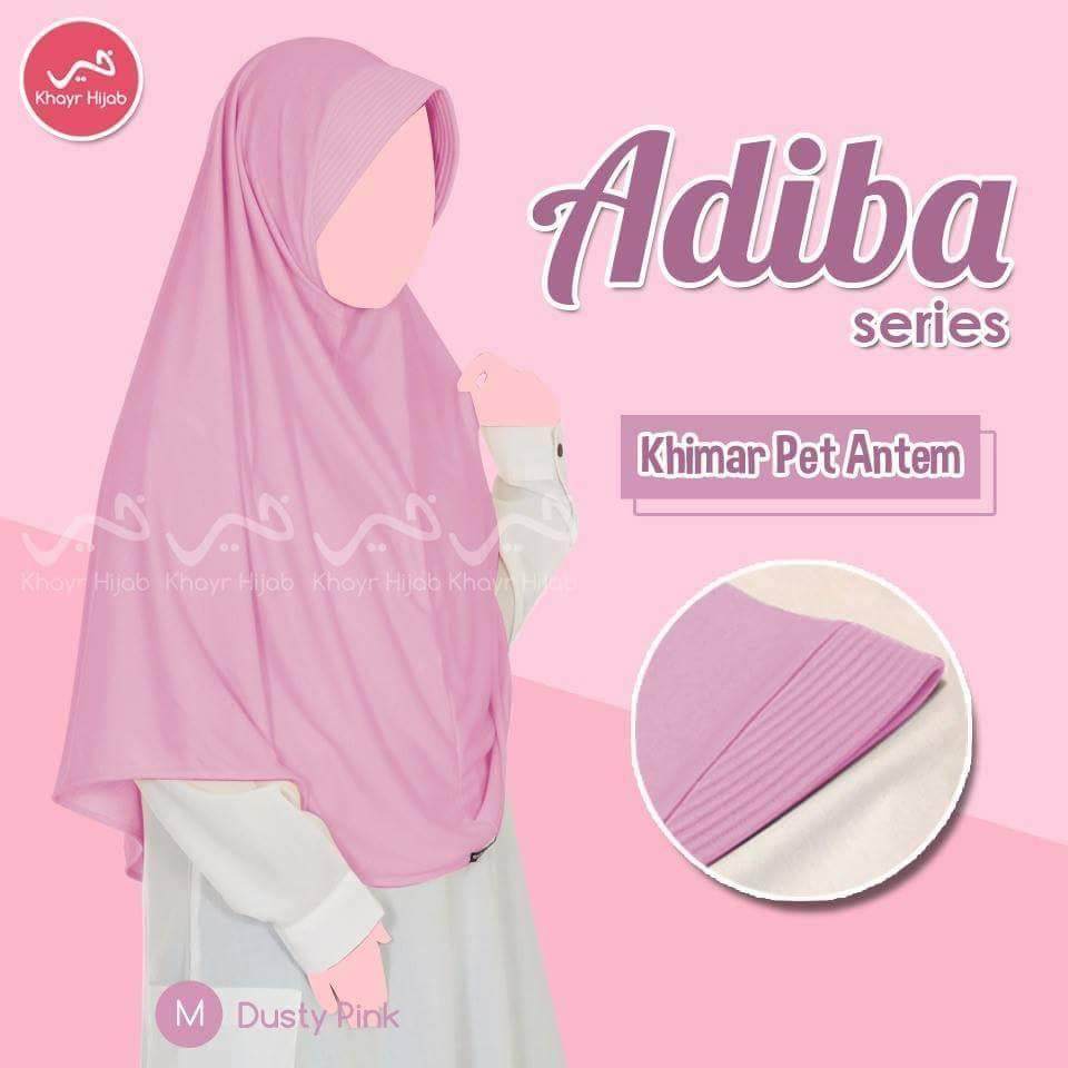 kerudung kaos khayr adiba series khimar pet antem dusty pink