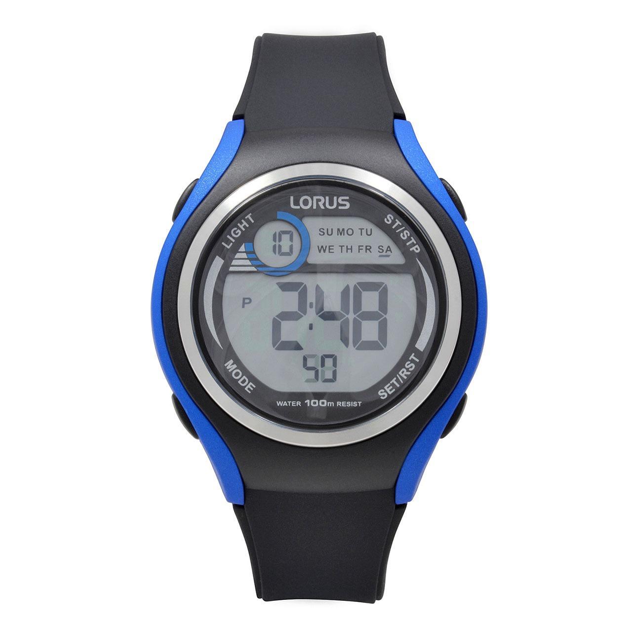 LORUS Jam Tangan - Black Blue - Silicon - R2377LX9