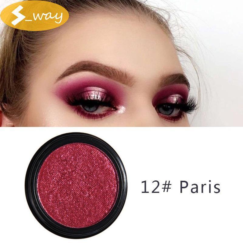 Sway PHOERA 12#Paris glitter metal eyeshadow makeup glitter eye shadow natural eye shadow palette