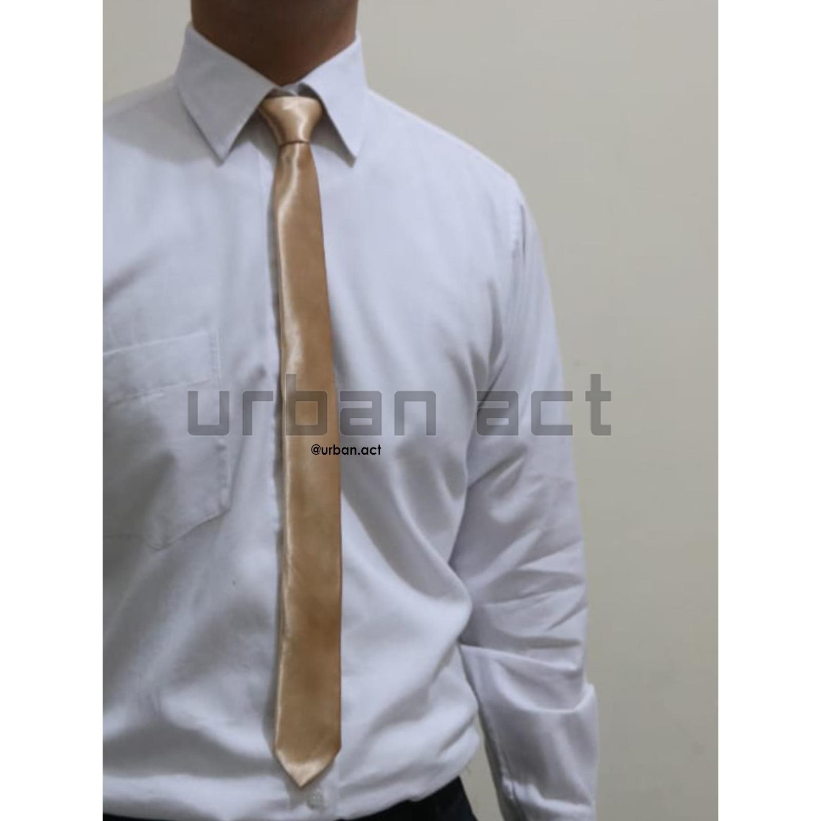 Pesta Gold - Dasi Kerja Emas Slim - Slim tie. Source ·