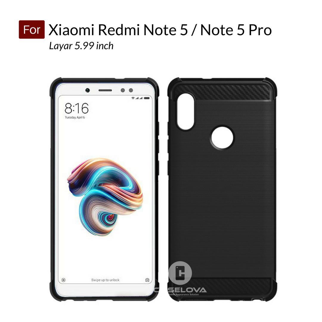 Kelebihan Accessories Hp Brushed Carbon Crack Case Xiaomi Redmi Note 5 Pro Ipaky Fiber Matte For Caselova Corner Protection Cushion Premium Shockproof Tpu