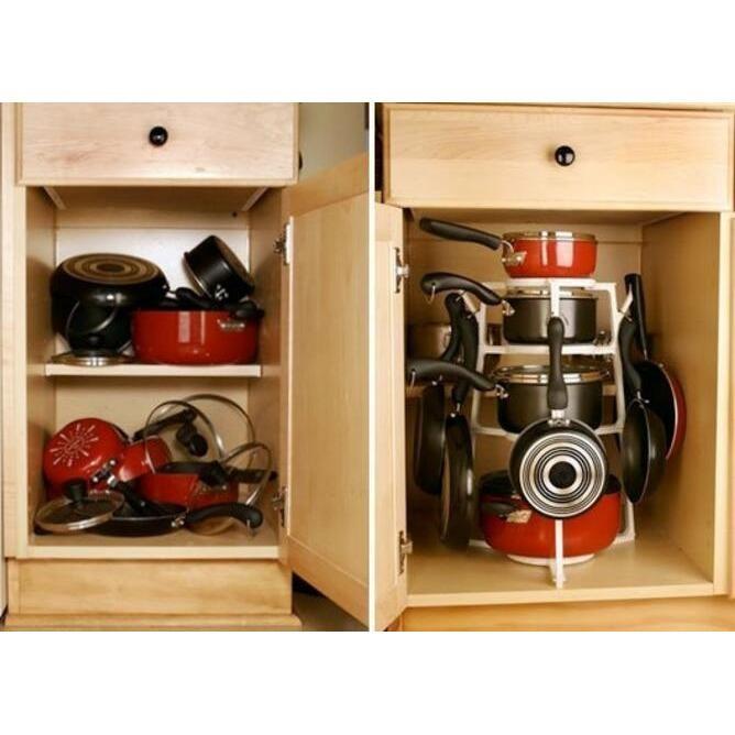 Rak Lemari Dapur Rak Kitchen Set Lemari Dapur Minimalis Modern Rak Perabot Dapur Rak Untuk Dapur Wadah Panci Holder Panci 4 Susun