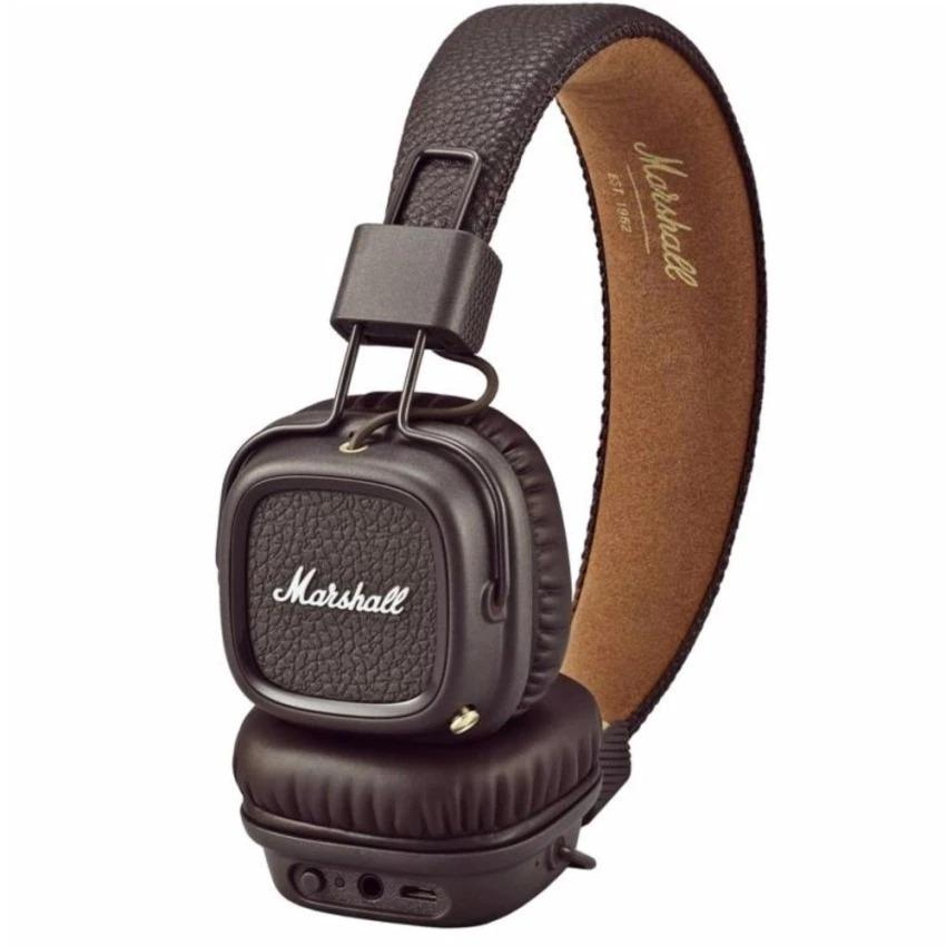 Marshall Major II Bluetooth Headphones Wireless Headset Foldable with Built-in Microphone and Remote Second generation 2