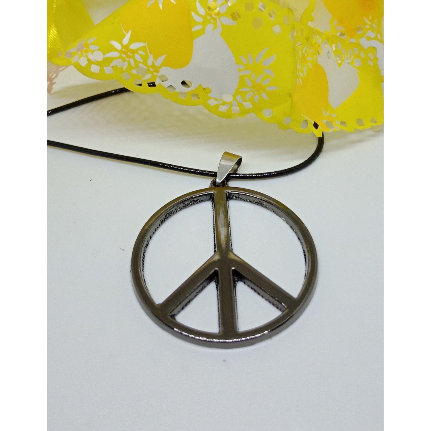 Gambar Produk Robagin kalung lambang perdamaian 4cm stainless pgs41 Lengkap