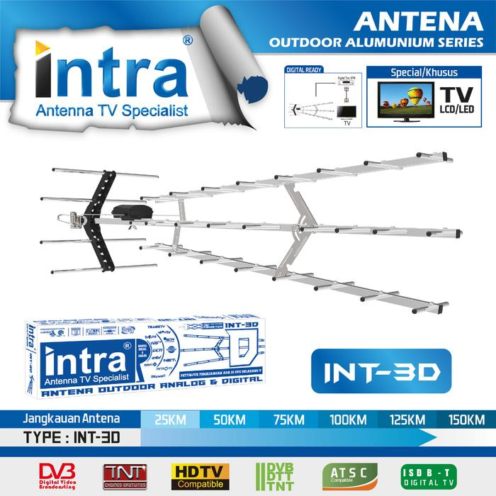 Antena TV Outdoor Analog & Digital Intra INT-3D