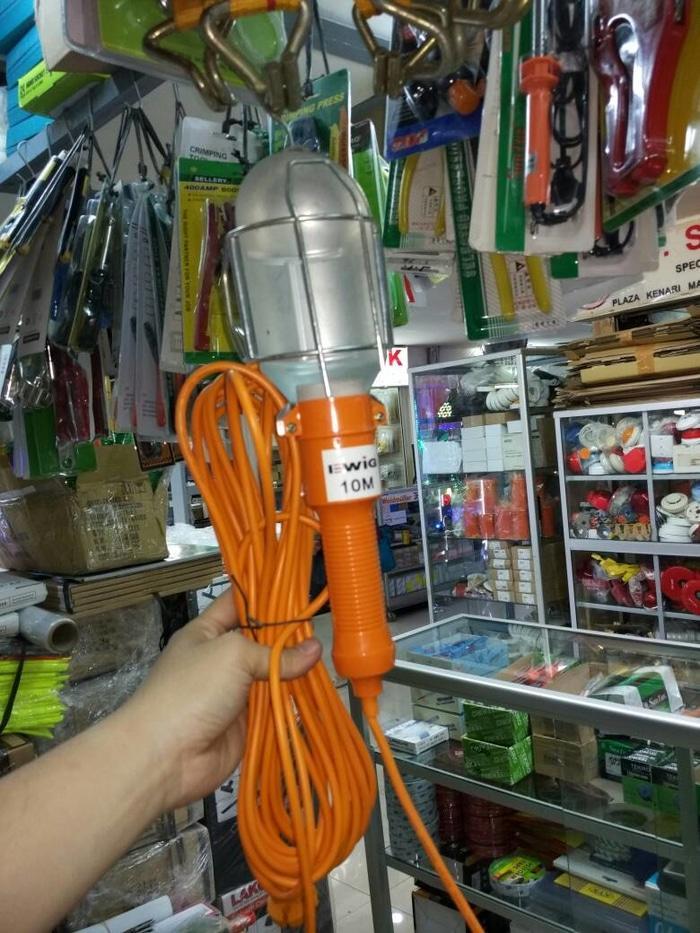 ORIGINAL - LAMPU KERJA EWIG 10 METER / LAMPU KERJA PROYEK 10 METER
