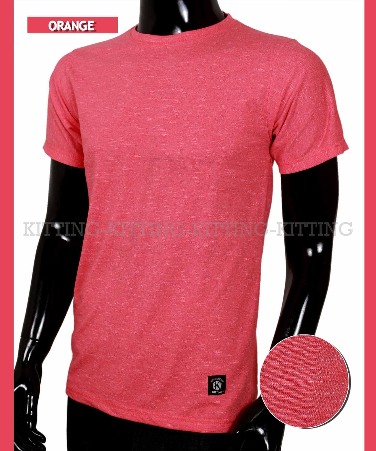 Kaos pria fashion terbaru motif keren warna orange