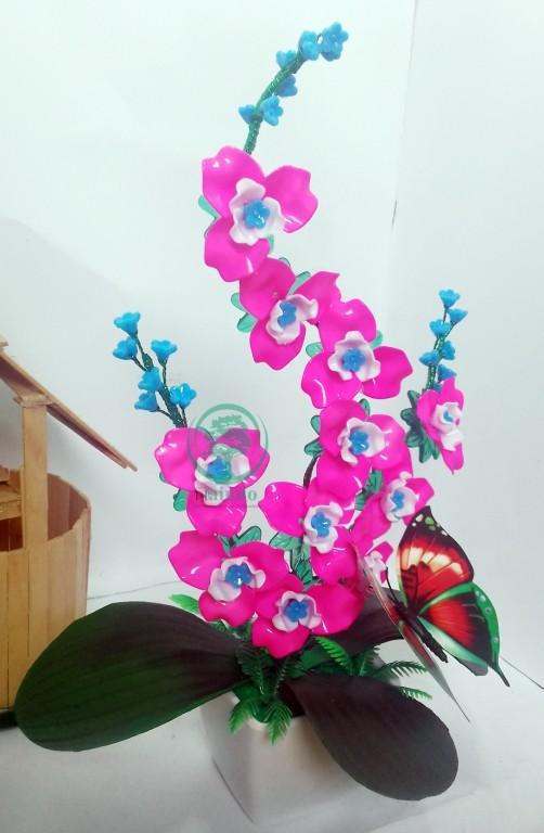 Naindo-Bunga Akrilik Anggrek Mekar -hiasan ruang tamu   kantor-bunga palsu- 2a220a3a31