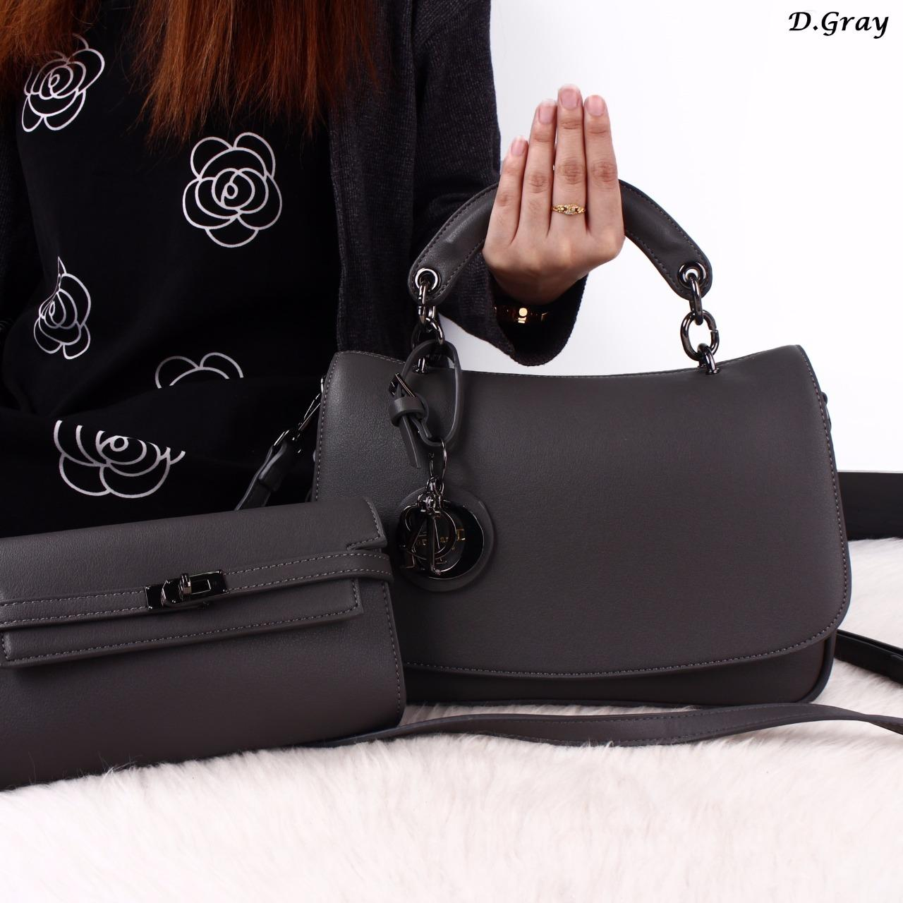 Kelebihan Tas Diorr 2in1 Dune Calfskin Leather Bags 47122 Gtb17 Vicria Branded Wanita High Quality Elegant Korean Bag Style Pink