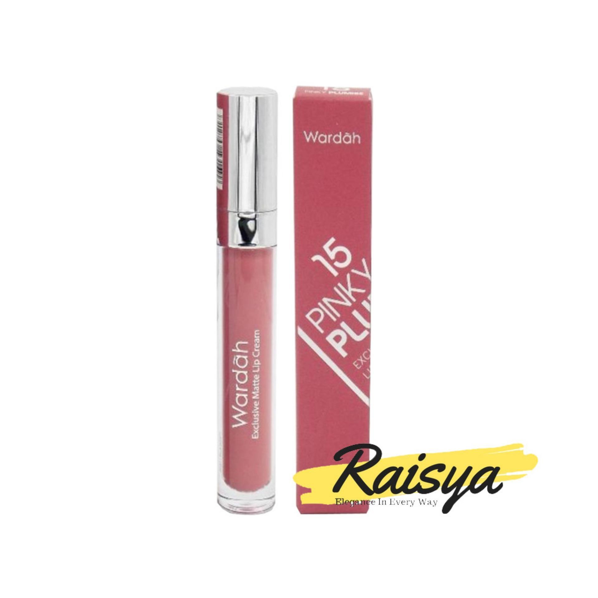 Cek Harga Baru Wardah Exclusive Matte Lip Cream No 06 Feeling Red Mate 15 Pinky Plumise Original