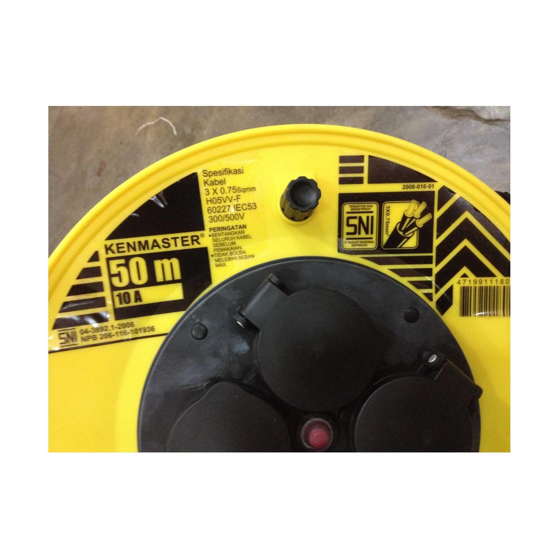 KenMaster Kabel Roll 4 Stop Kontak SNI Cok Sambung Tambahan 50m