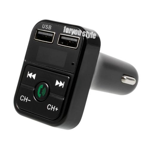 Bluetooth FM Transmitter Modulator MP3 Player Wireless Stereo Car Charger CarB 2