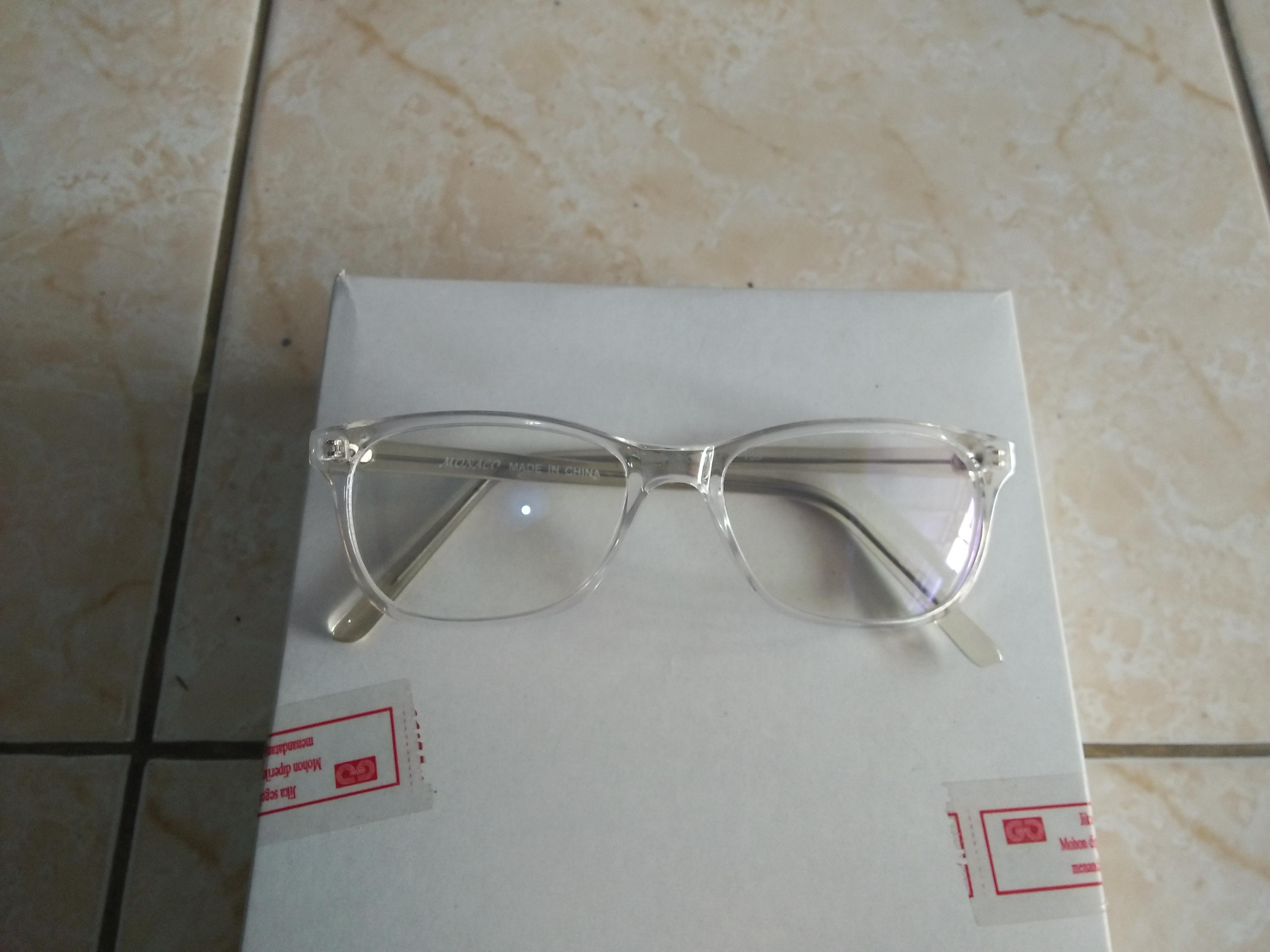 Kacamata anti radiasi handphone dan komputer kaca bening persegi trendy  NS153 522e8cd111