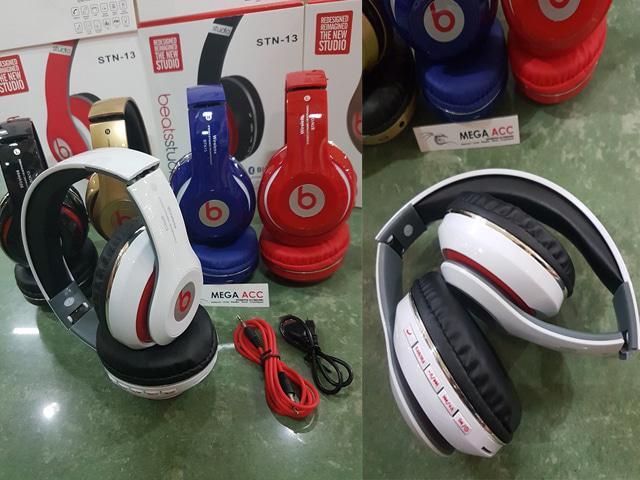 ... Headphones Beats Bluetooth STN 13 With Tft Card - Fm Radio / Aneka Headset Bluetooth Terbaru