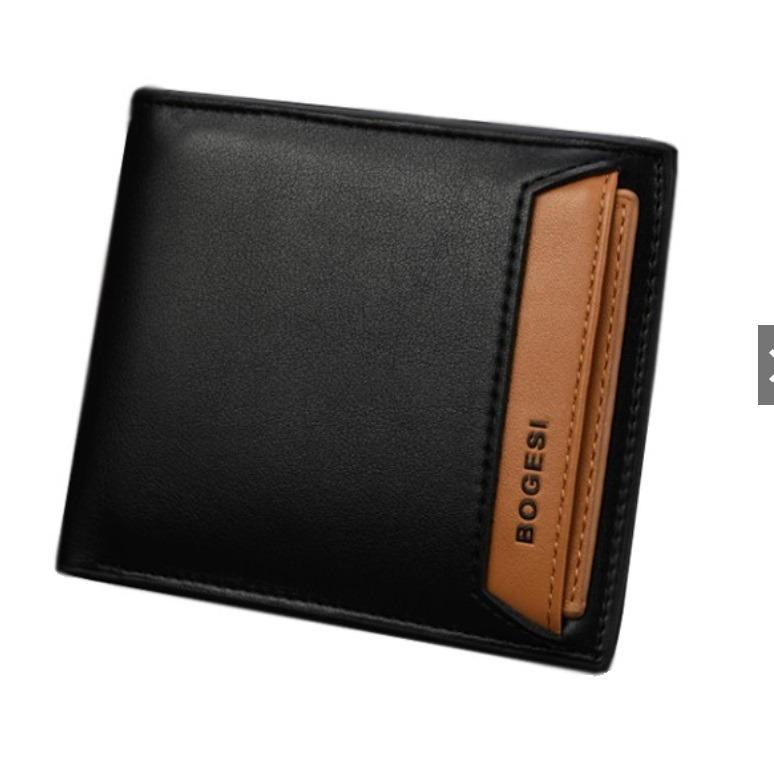 Spesifikasi Best Dompet Pria Impor Bogesi 721 Exclusive Korea Style Leather Mens Wallet Hitam Rendah Best