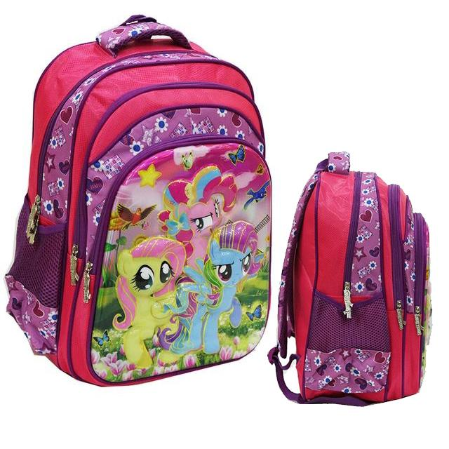 Onlan HARGA PROMO Tas Ransel Anak Sekolah SD Motif Little Pony 5D Timbul Import - Pink