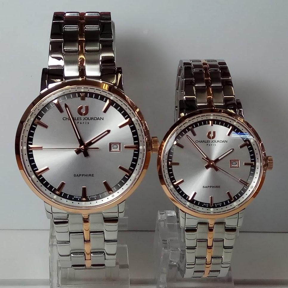 Charles Jourdan Jam Tangan Pria Leather Strap Daftar Harga 1020 1112 Silver Kombinasi Gold Couple Cj1050 Sapphire Rosegold Stainless Steel