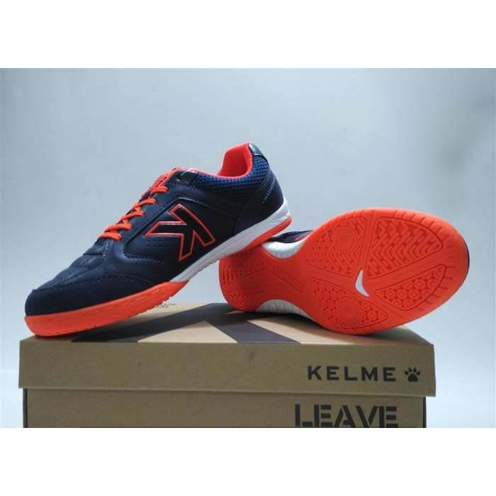 Sepatu Futsal Kelme Lanc Precision IN Navy Orange 1110107 Original
