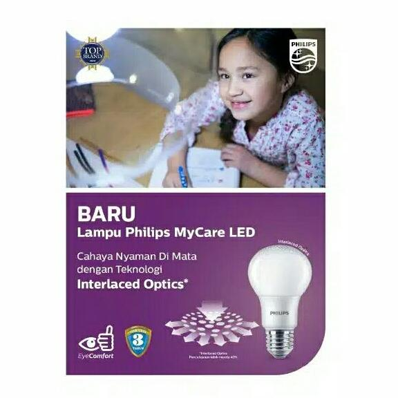 ... Philips lampu LED bulb 10 watt my care - putih - 4 ...