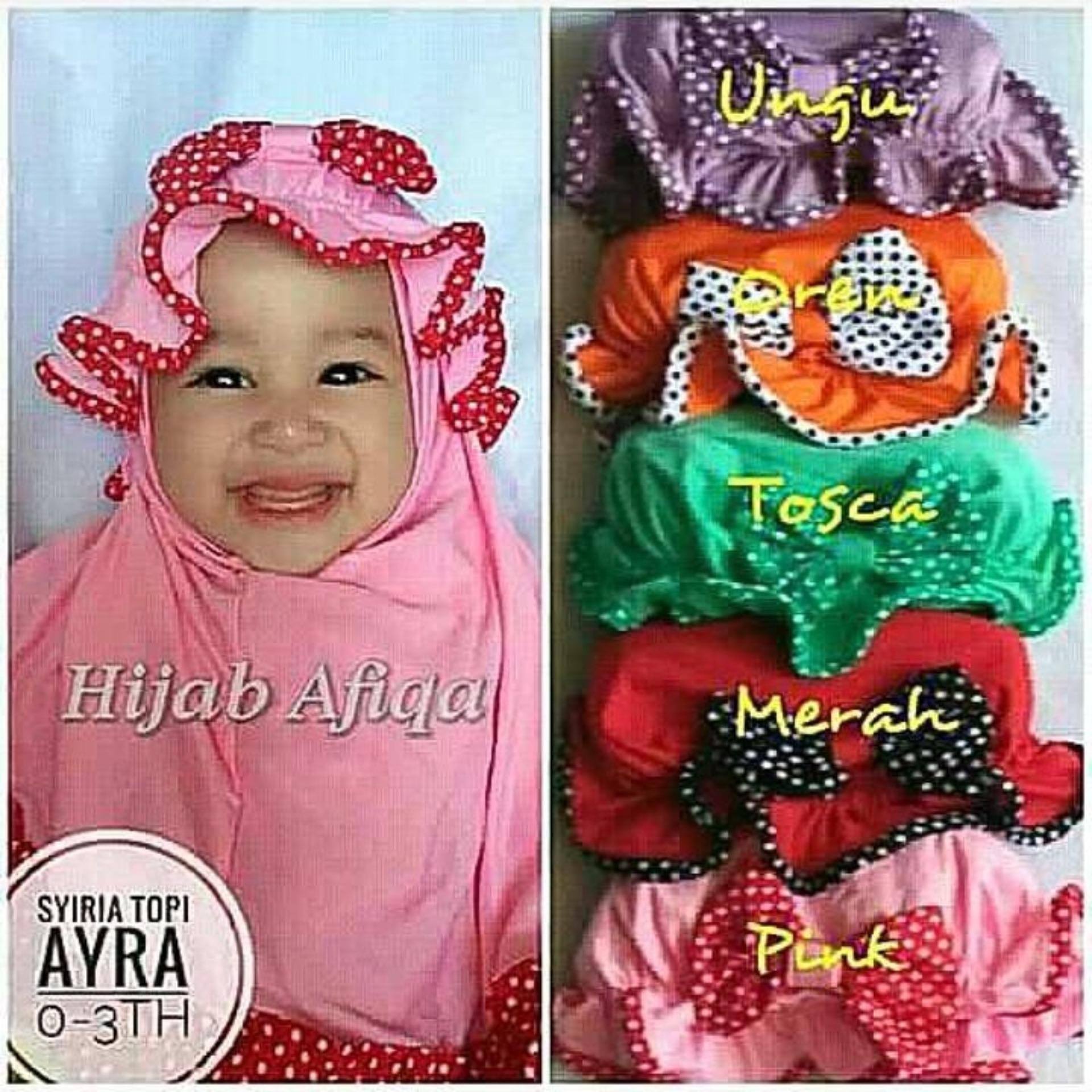 Kerudung Anak Bayi topi mawar polkadot  / Jilbab Anak Bayi / Jilbab Bayi / Hijab Pashmina Instan Anak