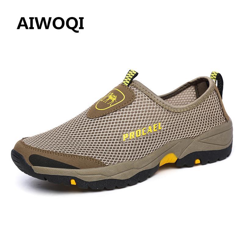 AIWOQI Men Women's Low Waterproof Non-slip Hiking Shoe Outdoor Climbing Hiking Shoes - intl