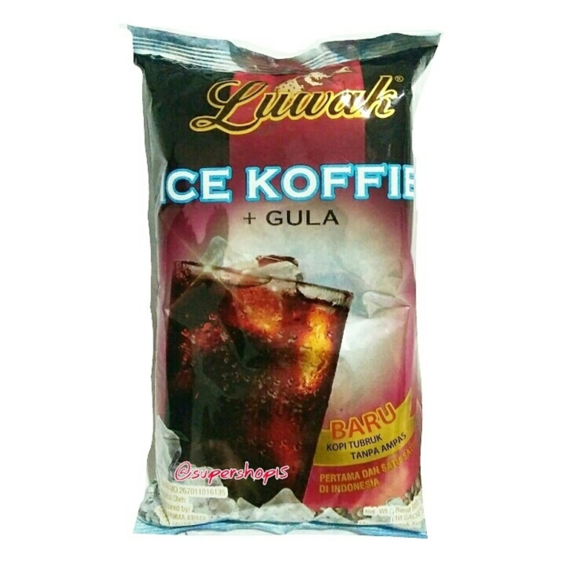 Lihat Luwak Kopi Gula Bag 10s Dan Harga Terbaru Informasi Cap Liong Bulan Super Shop15 Ice Koffie Isi 10