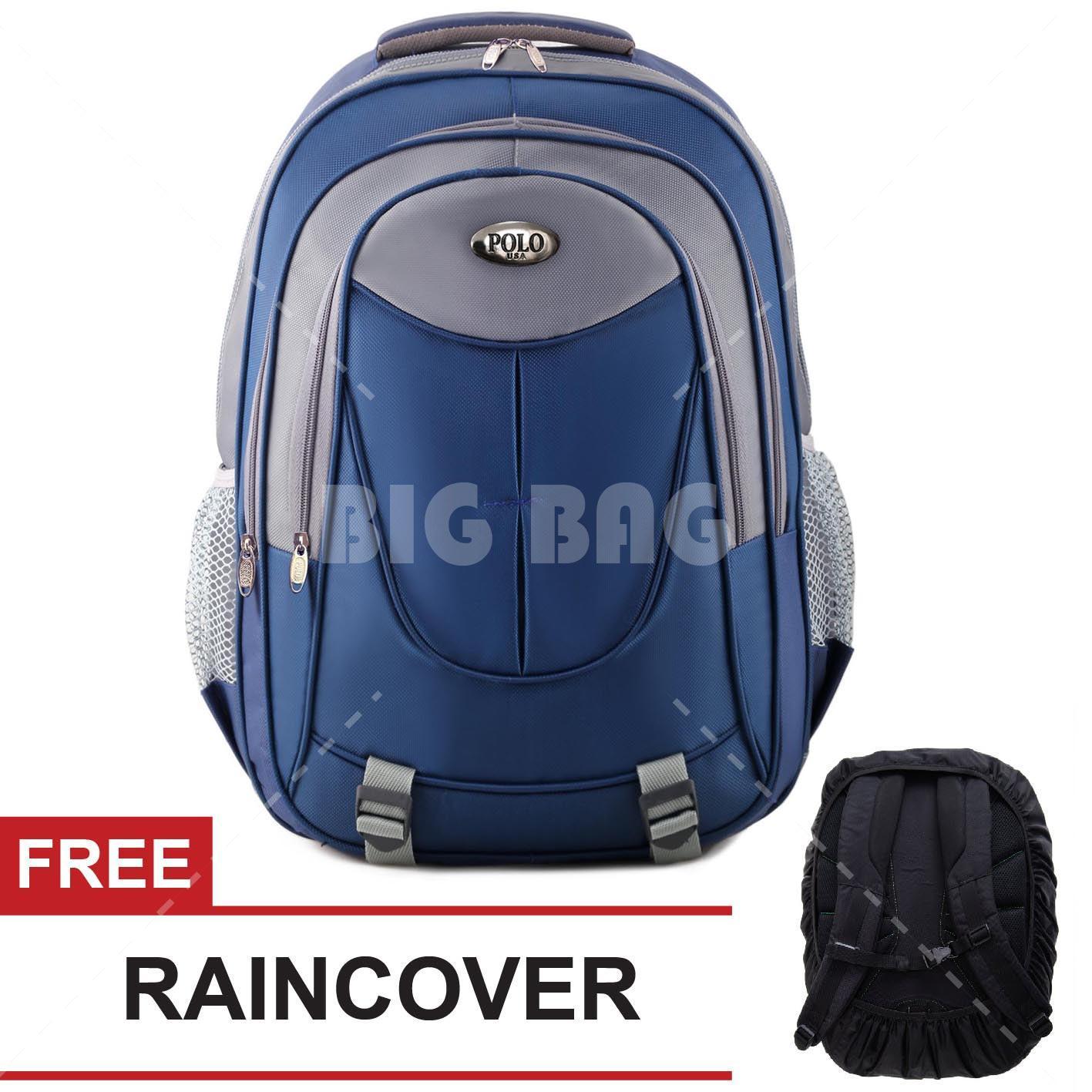 Tas Ransel Polo USA Johnspade Dailypack Tas Laptop Casual Backpack + FREE Raincover  Tas Pria Tas e44b675578