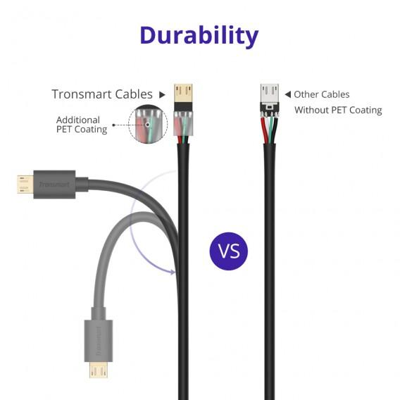 ... Tronsmart MUS06 Premium USB Cables 1 Pack (6ft/1.8m) with Gold- ...