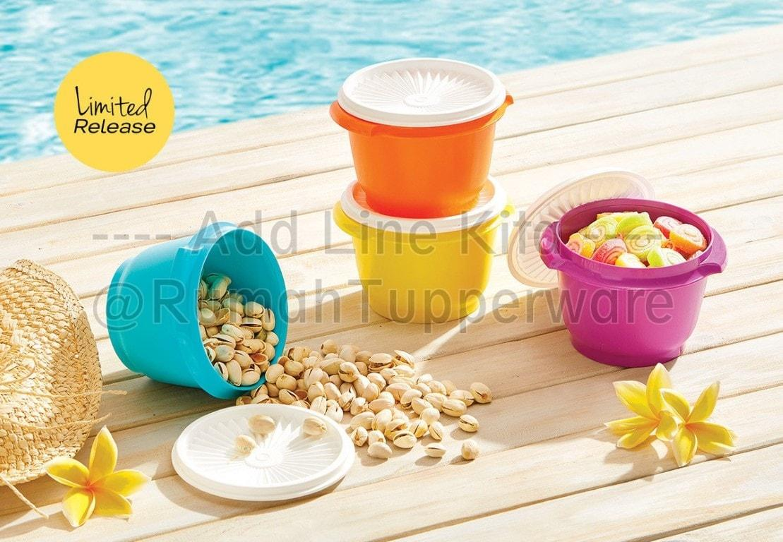 Tupperware Snack Peek Canister 4pcs Toples Cantik Update Daftar Parfum Sinzui Isi Detail Gambar Star Bowl 4020 Oz One Touch Canister41