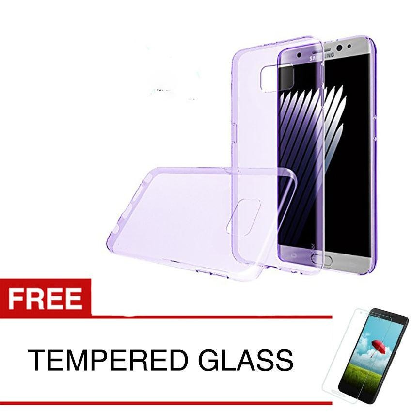 Case for Samsung Galaxy Note FE / Fan Edition - Ungu + Gratis Tempered Glass -