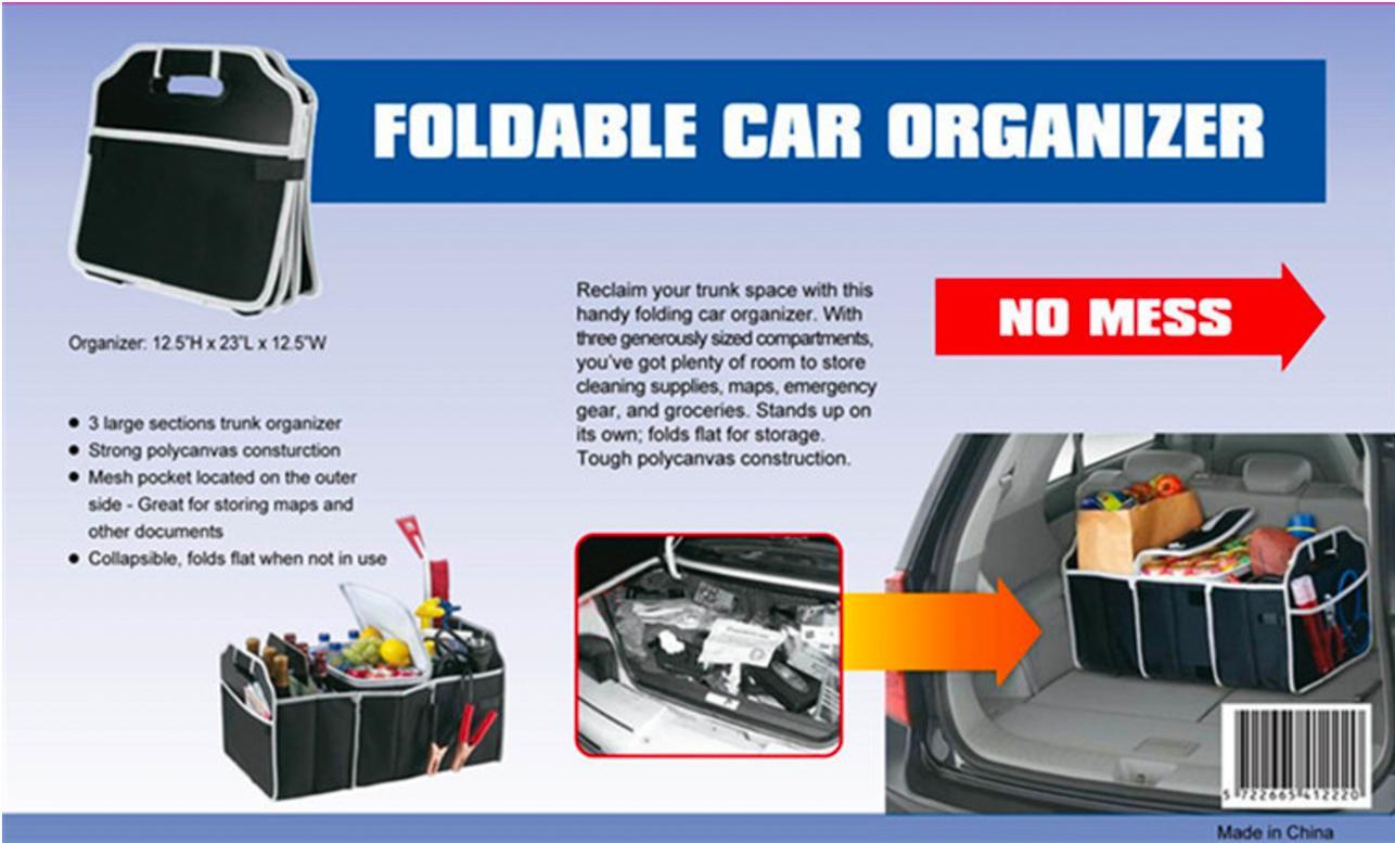 ... Kotak Organizer Box Penyimpanan Bagasi Belakang Mobil - 3