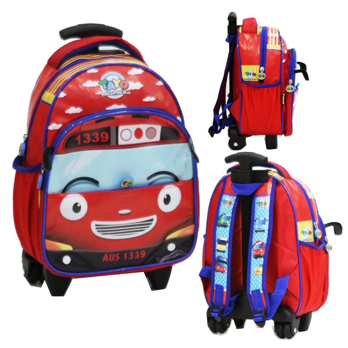 Top 10 Onlan Tas Trolley Anak Sekolah Tk Atau Play Group Motif Bus Tayo Bahan Kain Sponge Tahan Air 3Kt Online