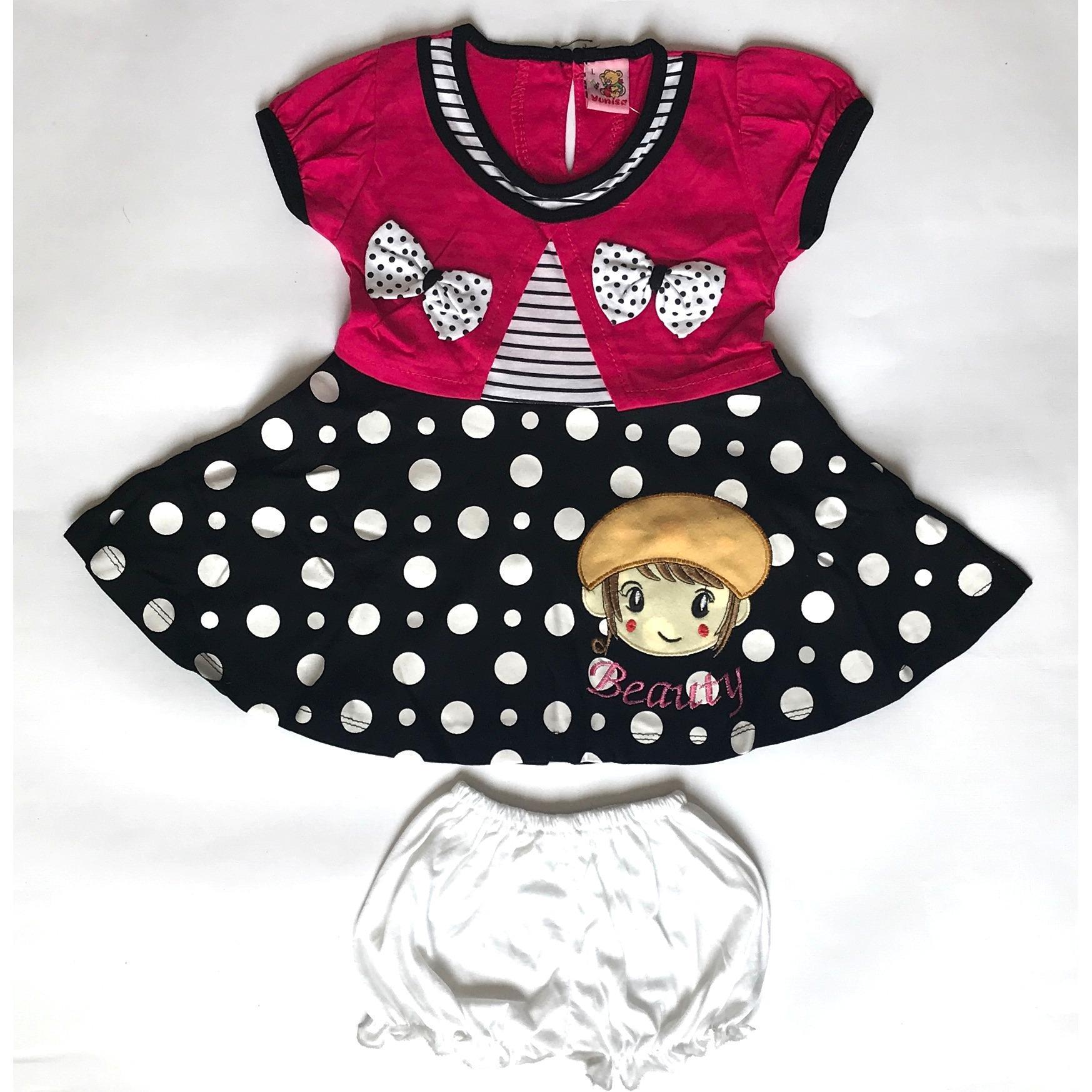BAYIe - Setelan Baju Bayi Dress Anak Perempuan motif CEWEK YUNISA / Pakaian anak cewek umur 1 - 2 tahun