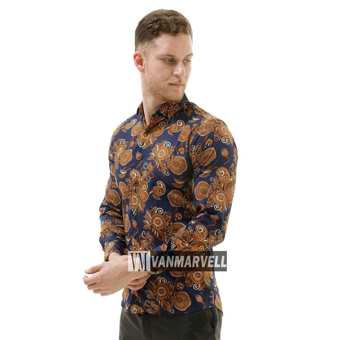 Vm Kemeja Batik Modern Slimfit Panjang New Kombinasi Daftar Harga B 185 Gambar Produk Rinci Tangan Terkini
