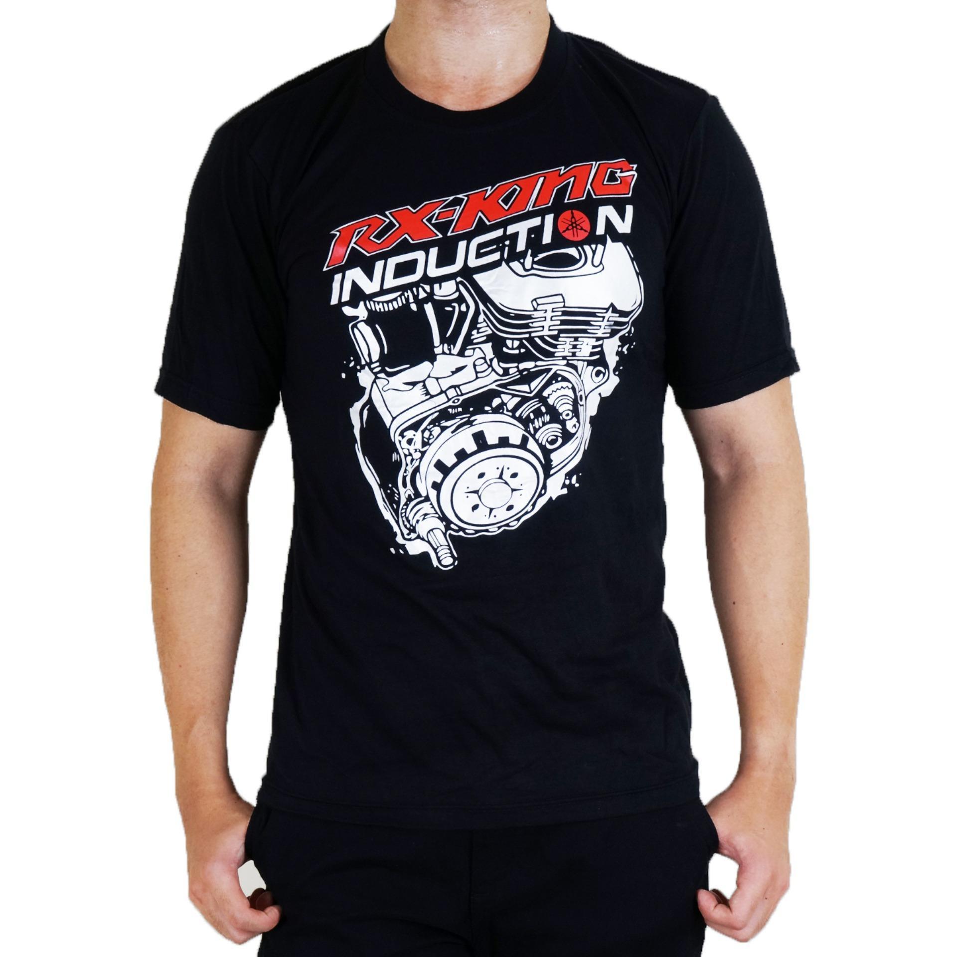 Vanwin - Kaos Distro Premium Pria Racing RX King Induction - Hitam