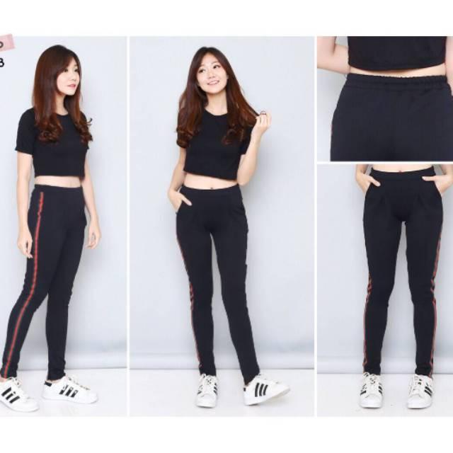 Beli Zelig Official Celana Legging Wanita Celana Legging Korea Celana Legging Sport Celana Legging Kekinan