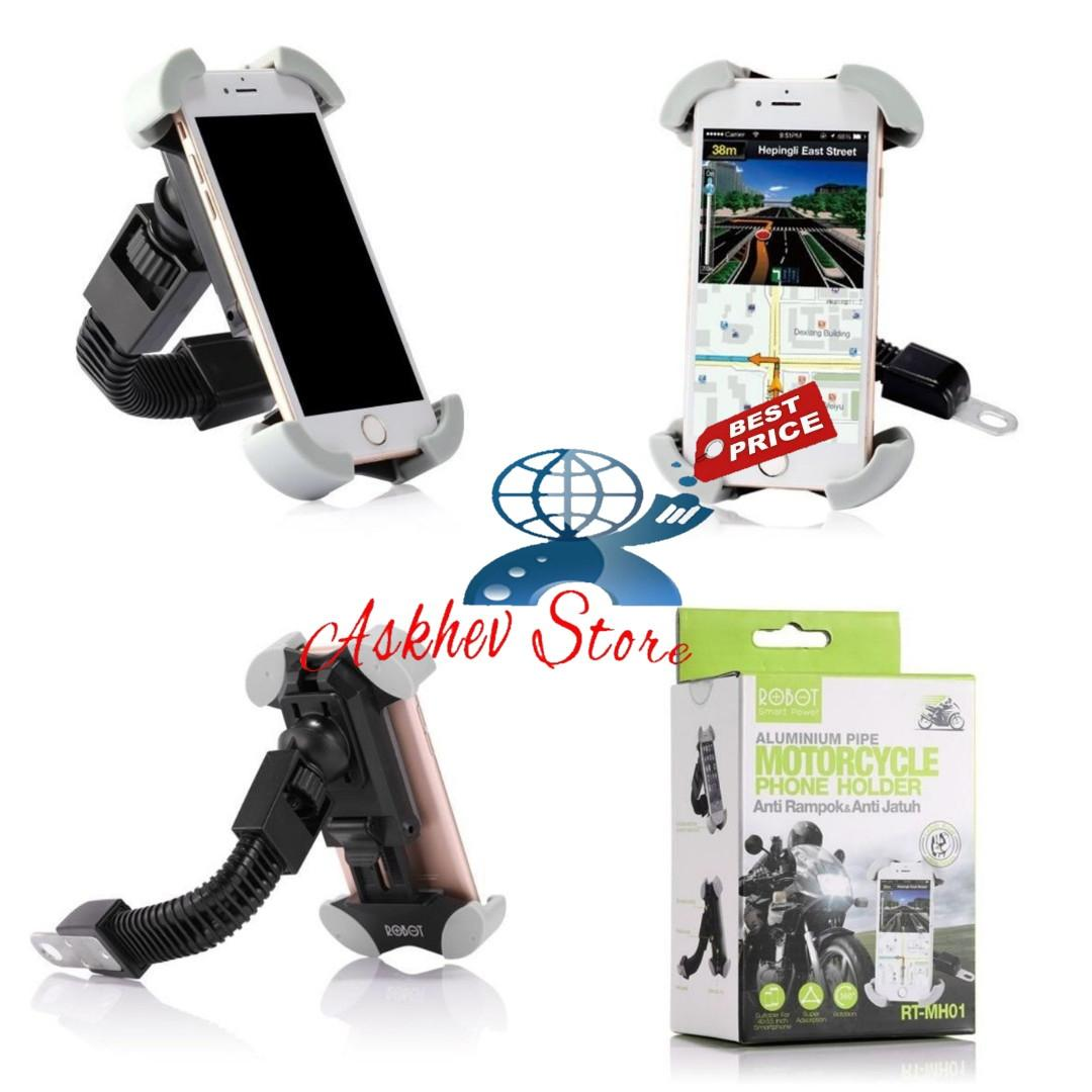 Robot RT-MH01 Holder hp & gps di spion sepeda motor by Vivan