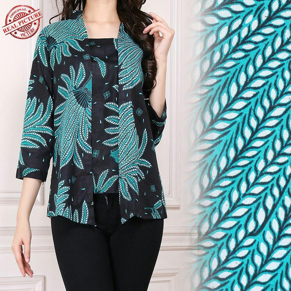 Spesifikasi Shining Collection Atasan Blouse Oline Batik Abaya Kemeja Padi Hijau Merk Shining