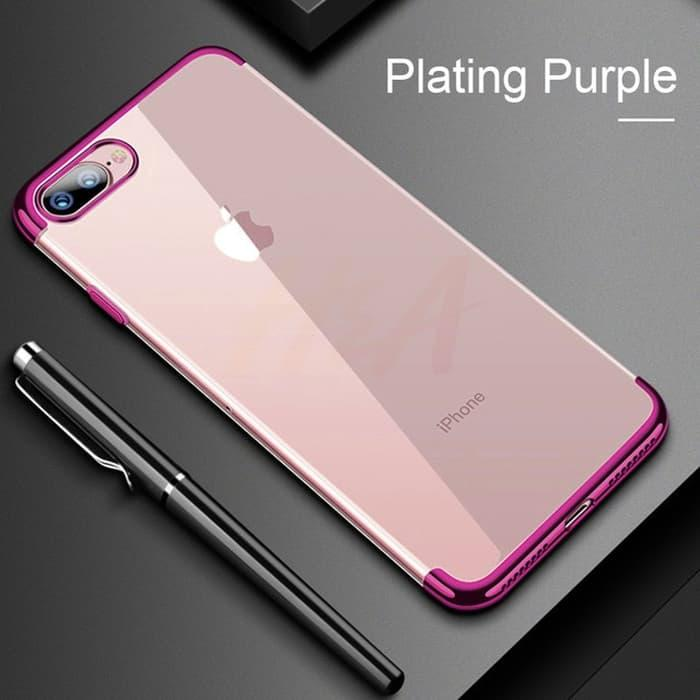 Case Oppo A3S softcase casing cover ultra thin transparan TPU PLATING
