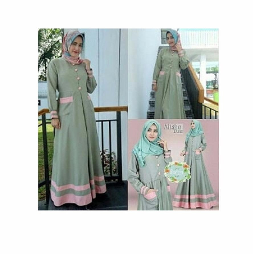 Gamis Alisha Dress Balotelly Baju Wanita Panjang Muslim Casual Wanita  Pakaian Hijab Modern Baju Gaun Pesta d401e1fcdc