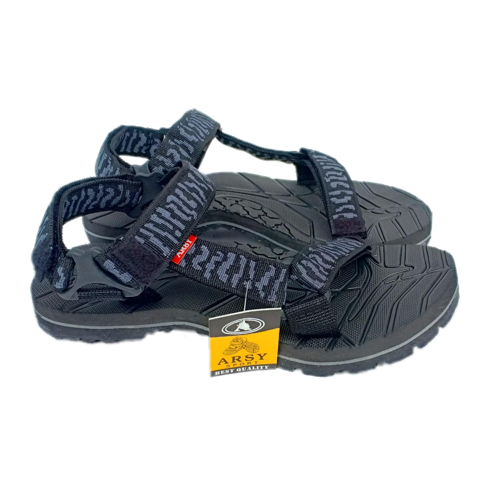 Arsy Exclusive Sandal Gunung / Sandal Outdoor Best Quality - Motip Silfer
