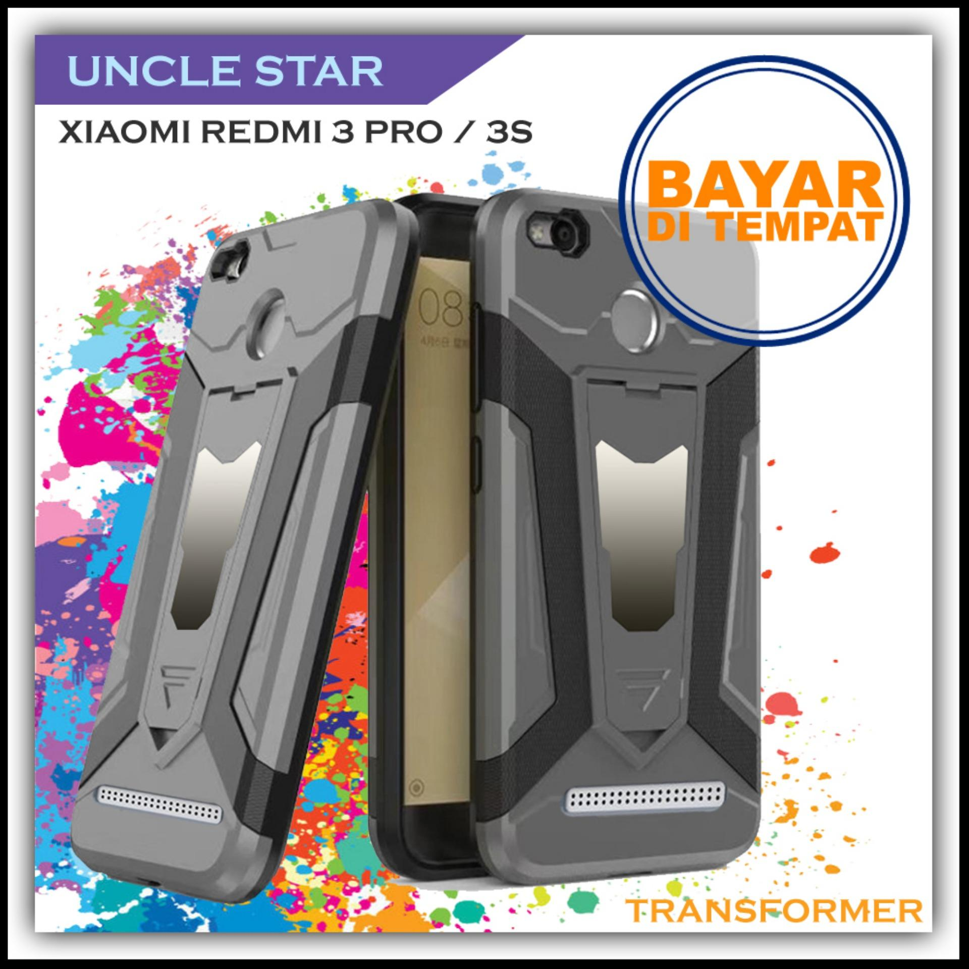 Uncle Star -HARDCASE For Xiaomi Redmi 3 Pro / 3S Pro Robot Transformer Ironman Limited