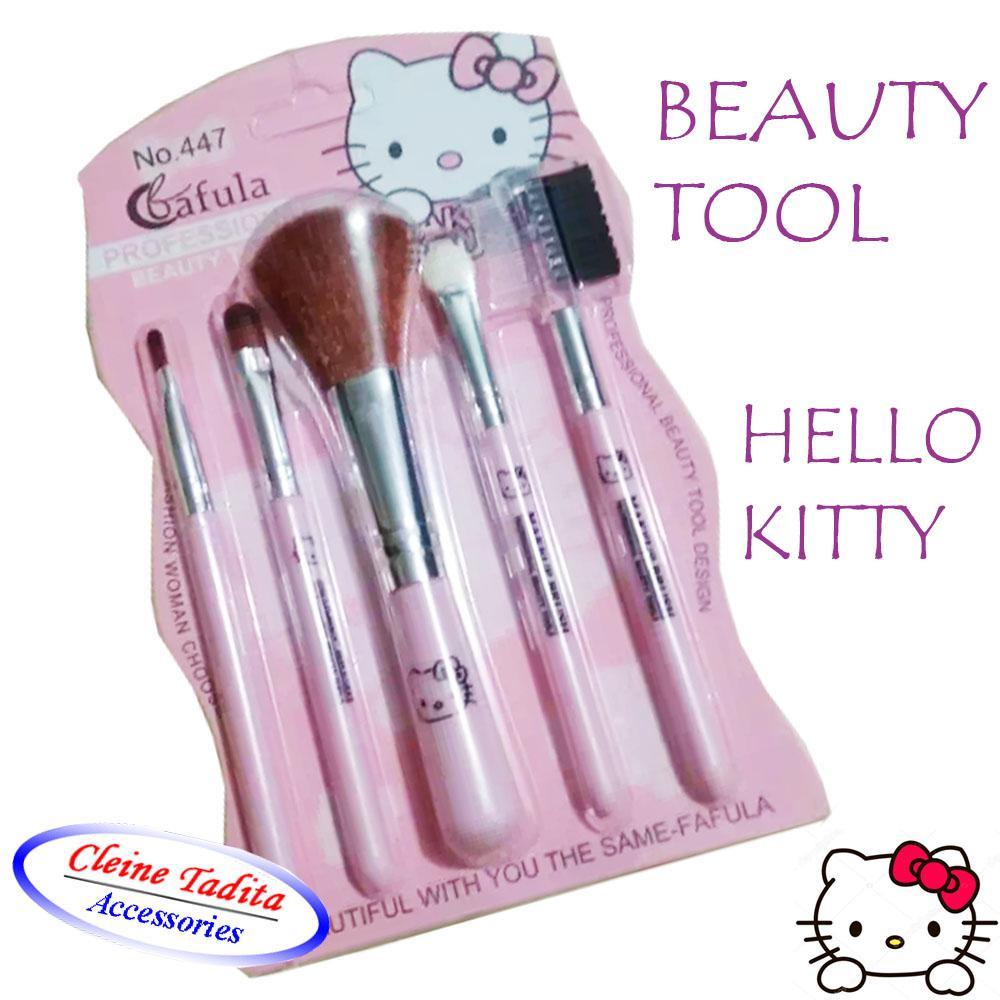 Fitur Kuas Hello Kitty Kaleng 7 Pcs Brush Set In 1 Make Up 447