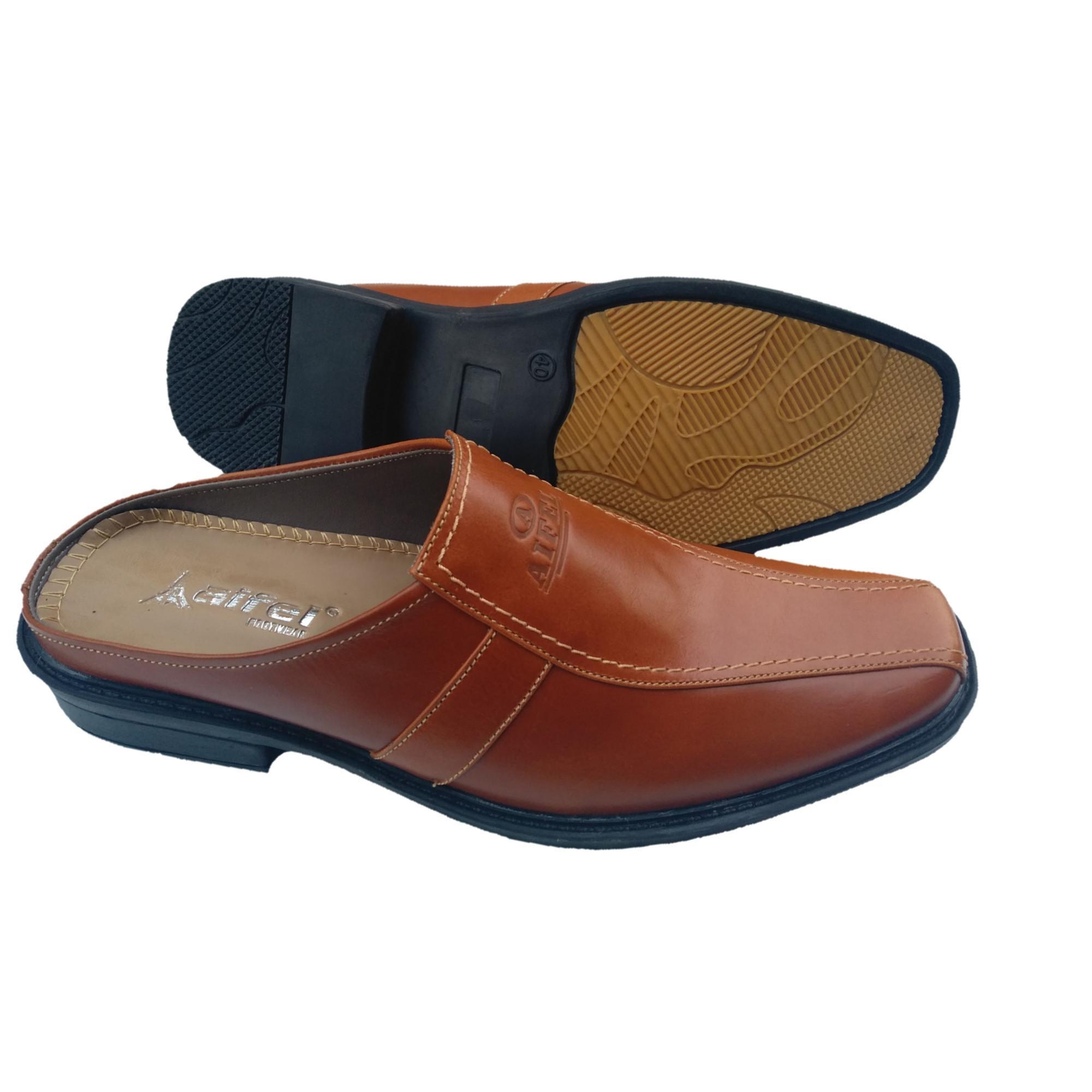 Sepatu Selop AIFEL Pria Kulit Asli   Selop Pria Kulit   Sepatu Selop . 225ca57cd9