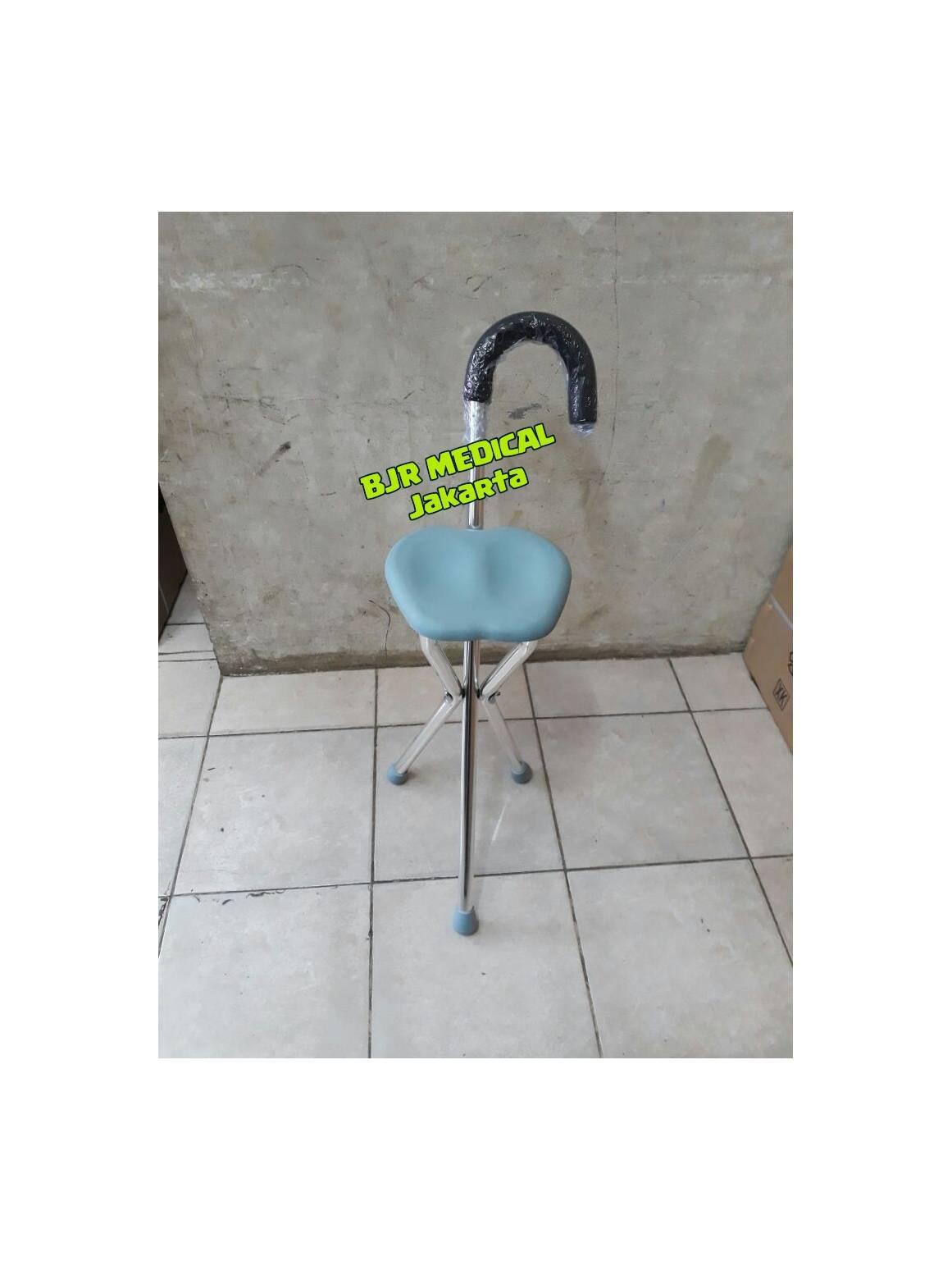 Tongkat/Kursi duduk Sholat Tanpa Roda AVICO Mudah di Lipat & Praktis