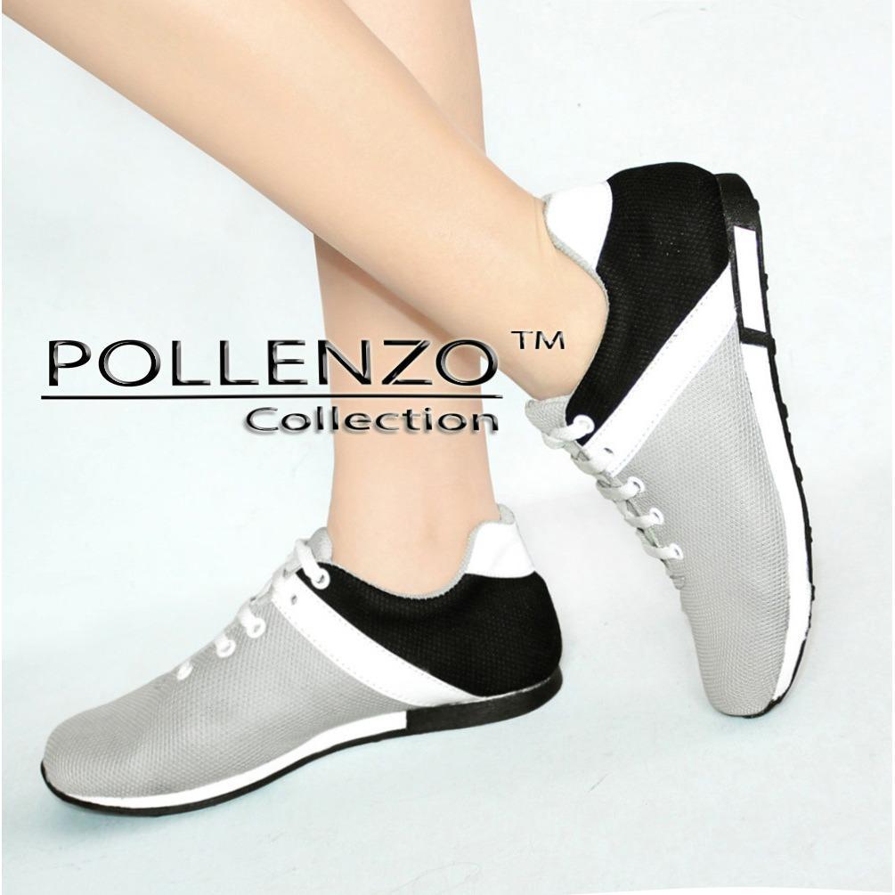 Harga Pollenzo Sneakers Wanita Sepatu Joging Black Pollenzo Asli