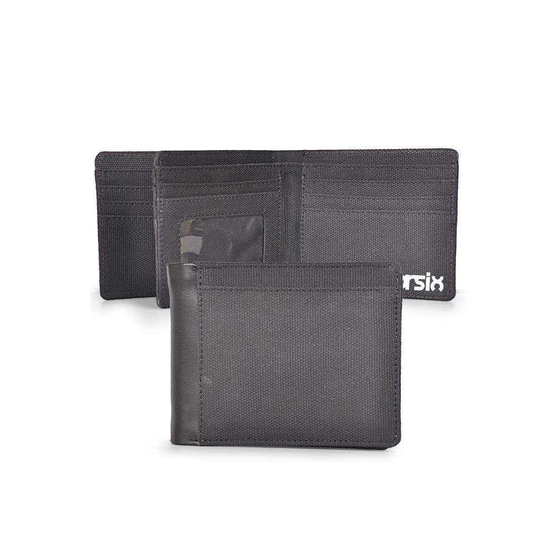 Dompet Pria Canvas Minimalis Hitam - CBR SIX/ GYC 390